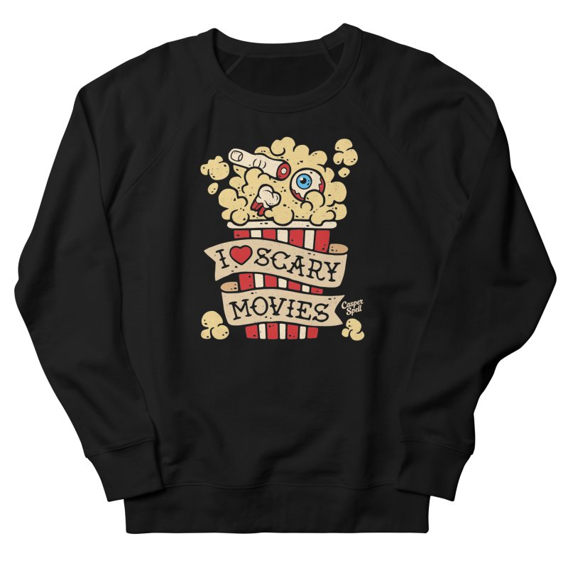 I Love Scary Movies by Casper Spell Men's Sweatshirt by Casper Spell's Shop