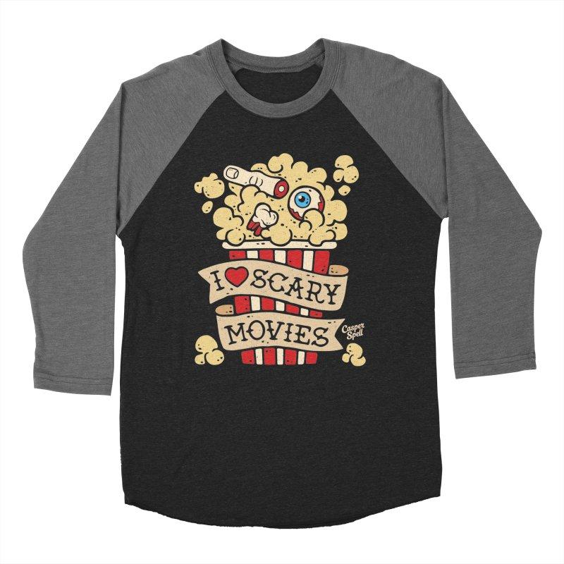 I Love Scary Movies by Casper Spell Women's Baseball Triblend T-Shirt by Casper Spell's Shop