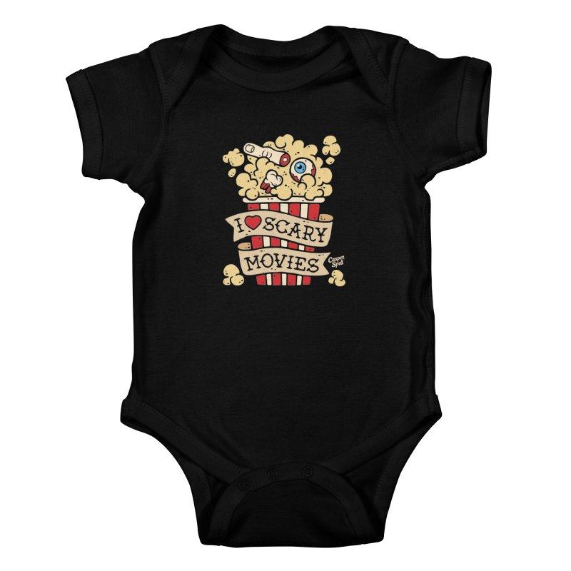 I Love Scary Movies by Casper Spell Kids Baby Bodysuit by Casper Spell's Shop