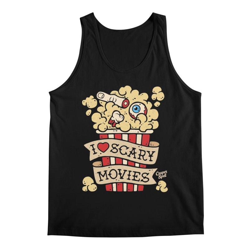 I Love Scary Movies by Casper Spell Men's Tank by Casper Spell's Shop