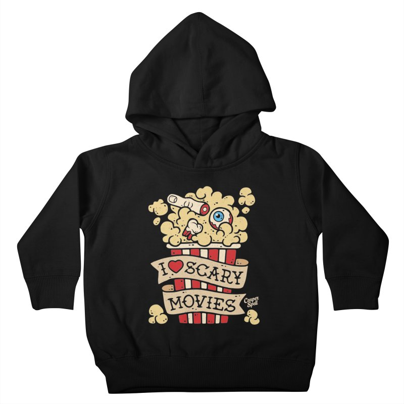 I Love Scary Movies by Casper Spell Kids Toddler Pullover Hoody by Casper Spell's Shop