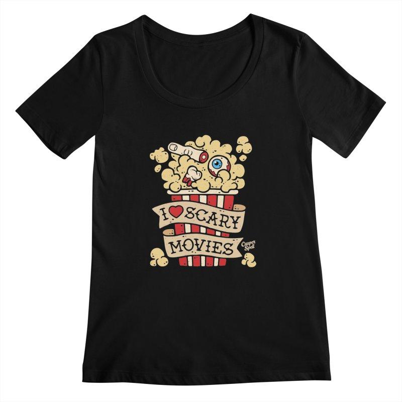 I Love Scary Movies by Casper Spell Women's  by Casper Spell's Shop