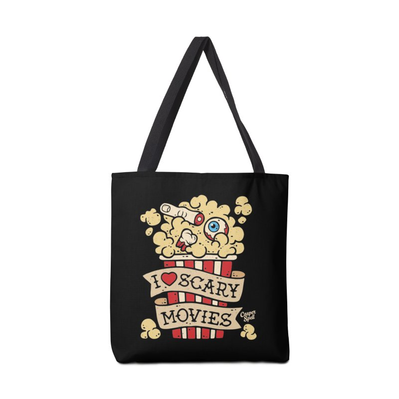 I Love Scary Movies by Casper Spell Accessories Tote Bag Bag by Casper Spell's Shop