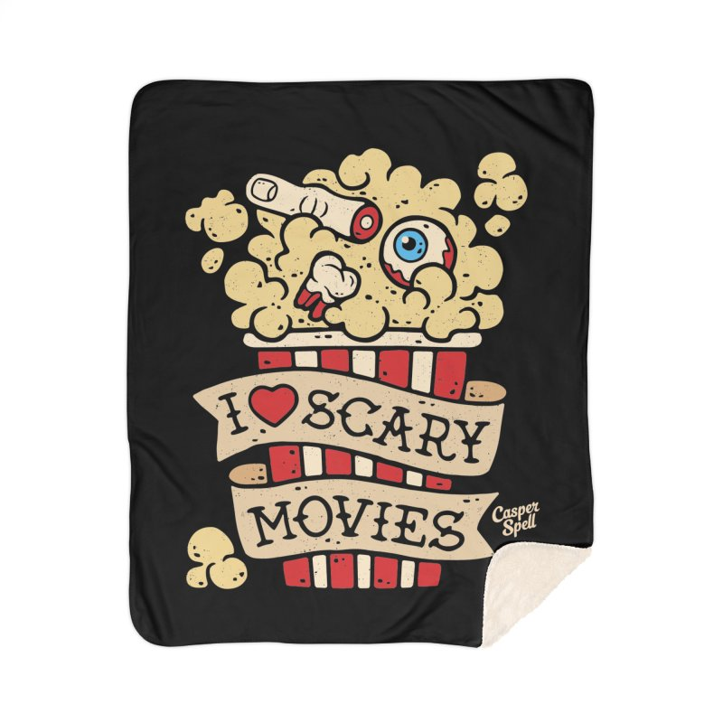 I Love Scary Movies by Casper Spell Home Blanket by Casper Spell's Shop