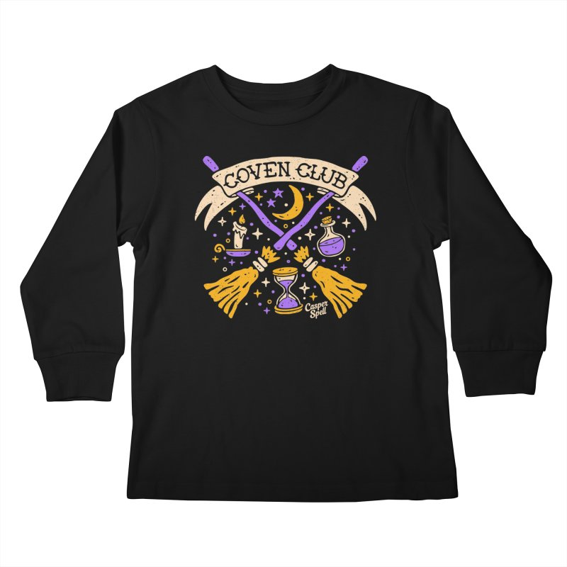 Coven Club by Casper Spell Kids Longsleeve T-Shirt by Casper Spell's Shop