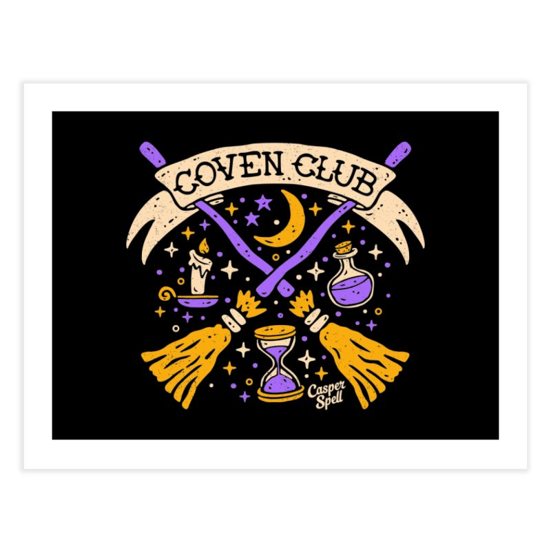 Coven Club by Casper Spell Home Fine Art Print by Casper Spell's Shop