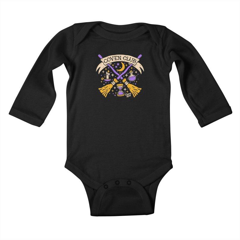 Coven Club by Casper Spell Kids Baby Longsleeve Bodysuit by Casper Spell's Shop