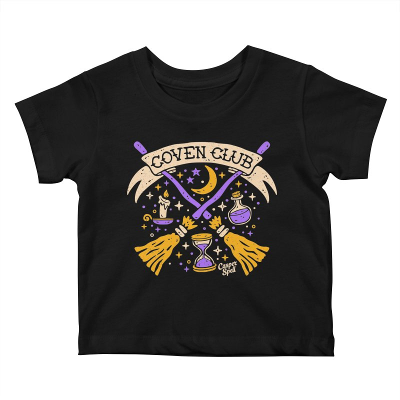 Coven Club by Casper Spell Kids Baby T-Shirt by Casper Spell's Shop