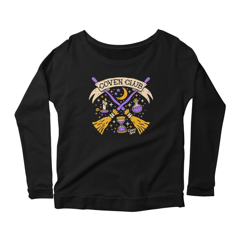 Coven Club by Casper Spell Women's Longsleeve Scoopneck  by Casper Spell's Shop