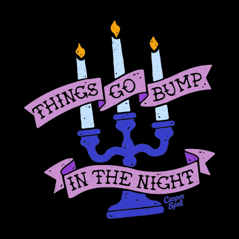 Things Go Bump In The Night Kids T-Shirt by Casper Spell's Shop