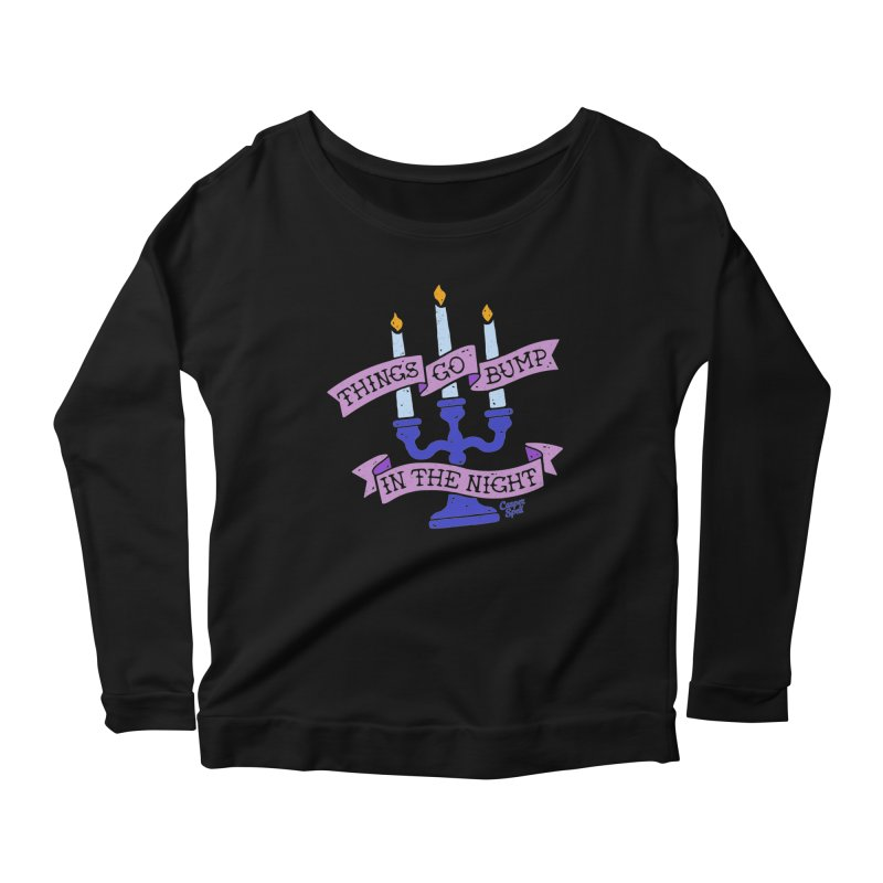 Things Go Bump In The Night Women's Longsleeve Scoopneck  by Casper Spell's Shop