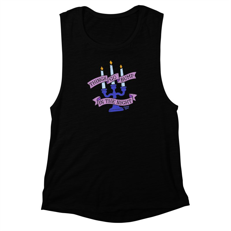 Things Go Bump In The Night Women's Muscle Tank by Casper Spell's Shop