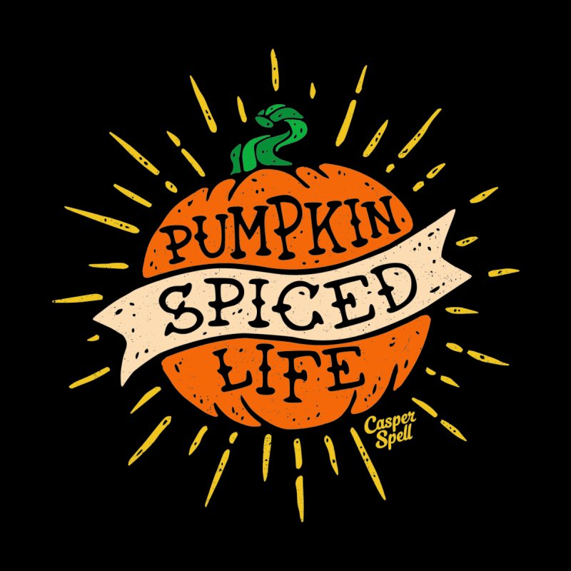 Pumpkin Spiced Life by Casper Spell Women's V-Neck by Casper Spell's Shop