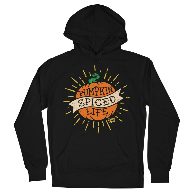 Pumpkin Spiced Life by Casper Spell Men's French Terry Pullover Hoody by Casper Spell's Shop