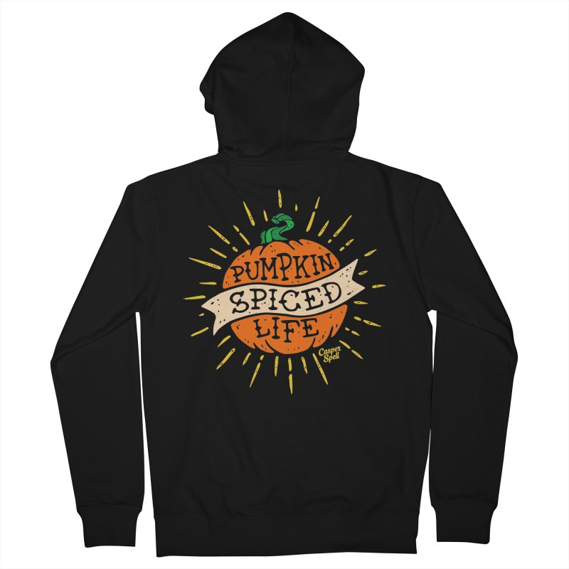 Pumpkin Spiced Life by Casper Spell Women's French Terry Zip-Up Hoody by Casper Spell's Shop