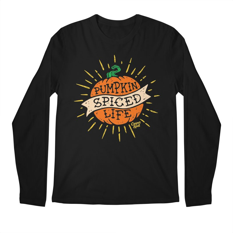 Pumpkin Spiced Life by Casper Spell Men's Regular Longsleeve T-Shirt by Casper Spell's Shop