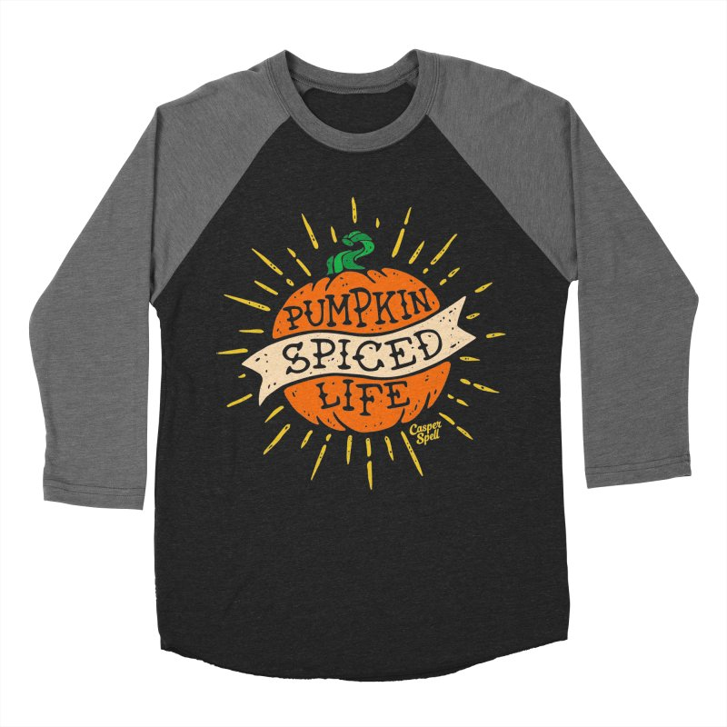Pumpkin Spiced Life by Casper Spell Women's Baseball Triblend Longsleeve T-Shirt by Casper Spell's Shop