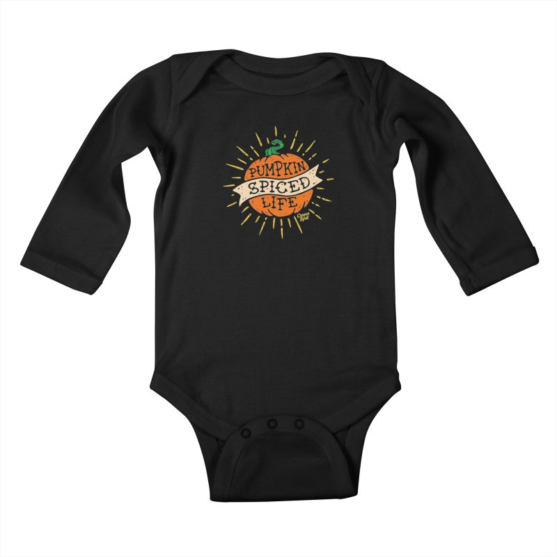 Pumpkin Spiced Life by Casper Spell Kids Baby Longsleeve Bodysuit by Casper Spell's Shop