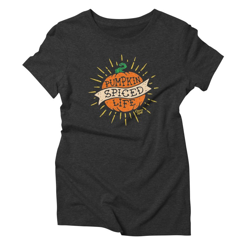Pumpkin Spiced Life by Casper Spell Women's T-Shirt by Casper Spell's Shop