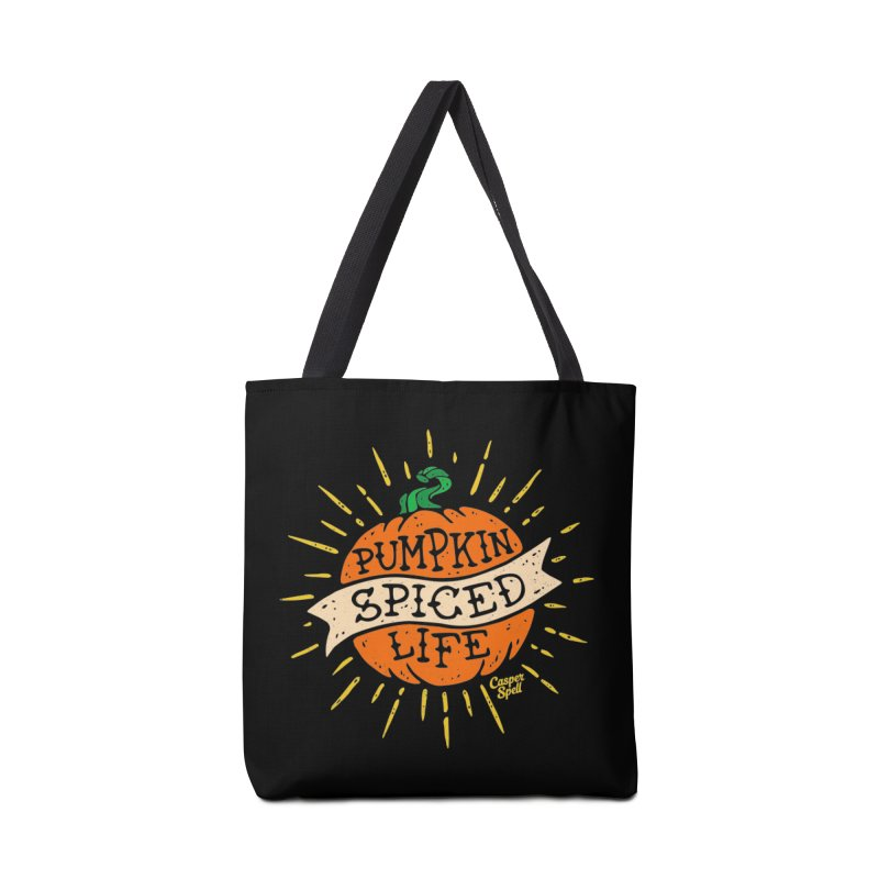 Pumpkin Spiced Life by Casper Spell Accessories Tote Bag Bag by Casper Spell's Shop