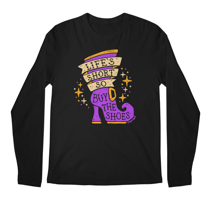 Life's Short So Buy The Shoes Men's Regular Longsleeve T-Shirt by Casper Spell's Shop
