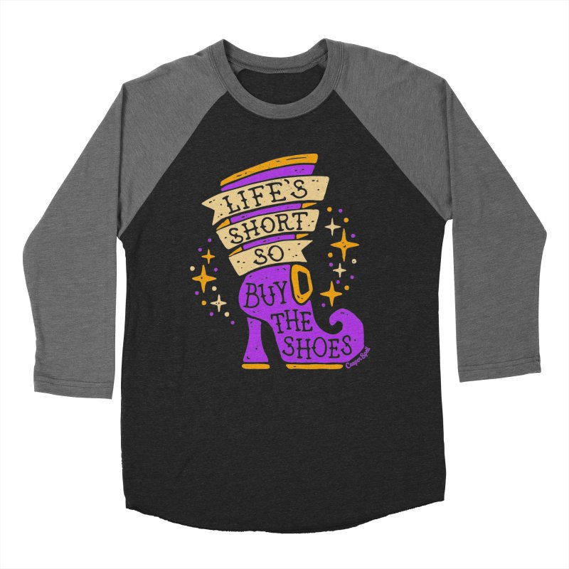 Life's Short So Buy The Shoes Women's Baseball Triblend Longsleeve T-Shirt by Casper Spell's Shop