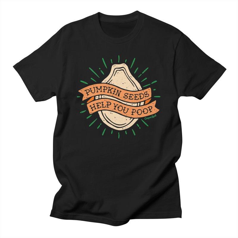 Pumpkin Seeds Help You Poop Men's T-Shirt by Casper Spell's Shop