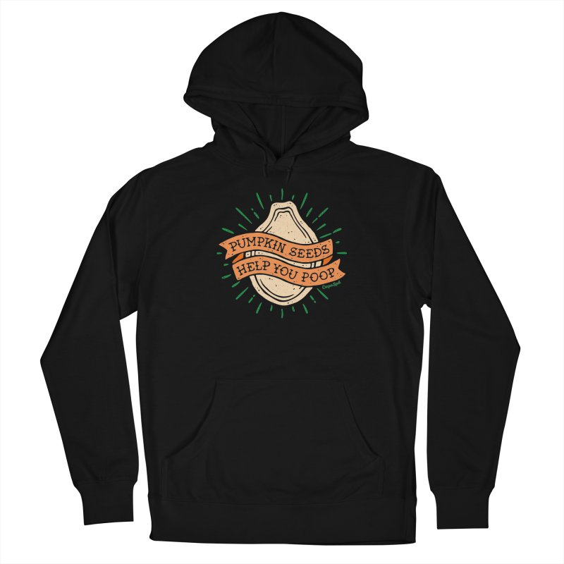 Pumpkin Seeds Help You Poop Men's French Terry Pullover Hoody by Casper Spell's Shop