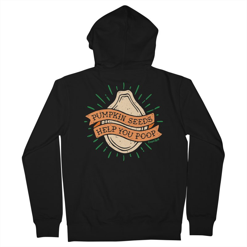 Pumpkin Seeds Help You Poop Men's Zip-Up Hoody by Casper Spell's Shop