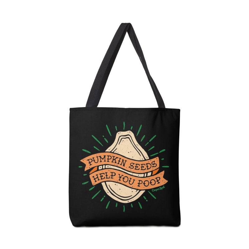 Pumpkin Seeds Help You Poop Accessories Tote Bag Bag by Casper Spell's Shop