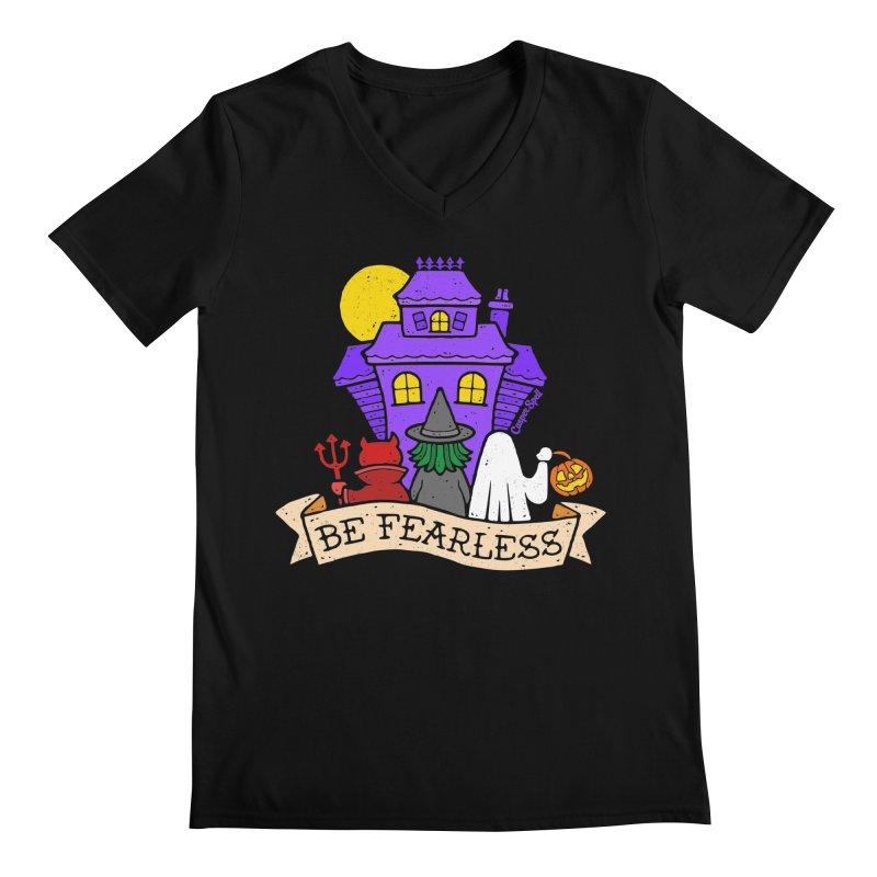 Be Fearless by Casper Spell Men's V-Neck by Casper Spell's Shop