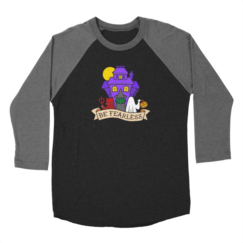 Be Fearless by Casper Spell Men's Baseball Triblend Longsleeve T-Shirt by Casper Spell's Shop