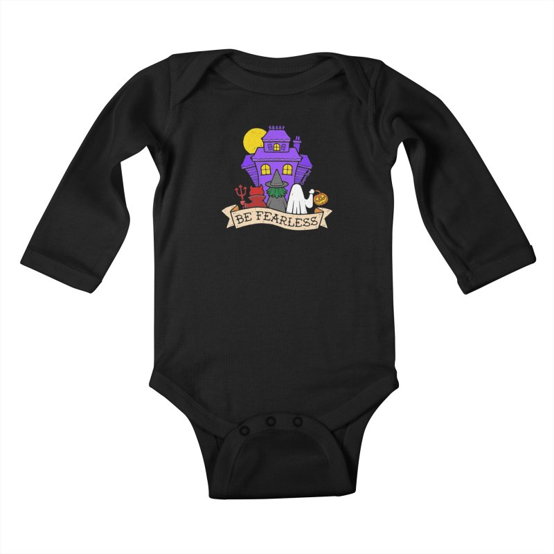 Be Fearless by Casper Spell Kids Baby Longsleeve Bodysuit by Casper Spell's Shop