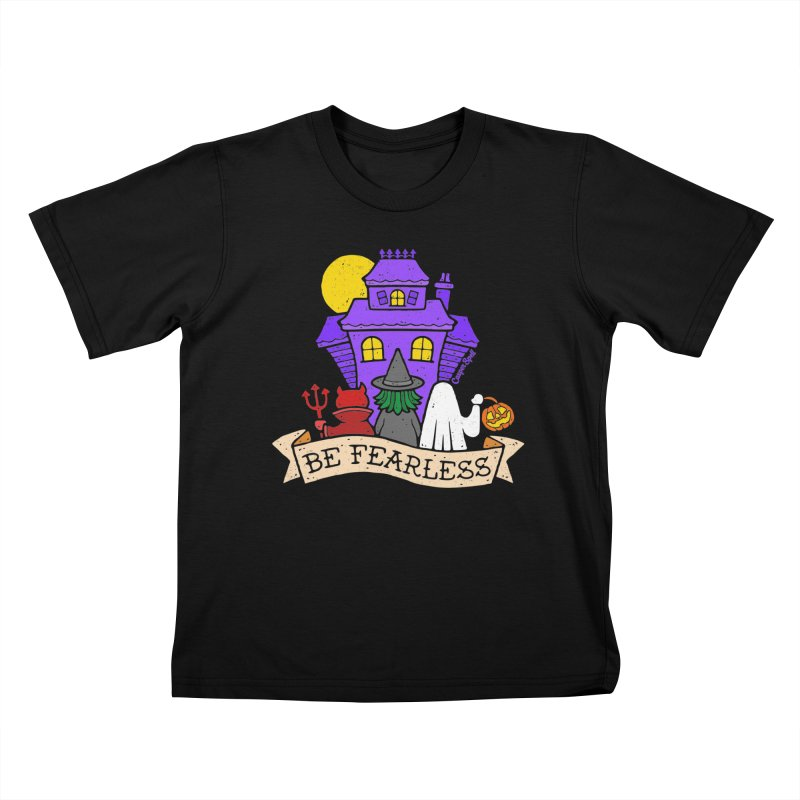 Be Fearless by Casper Spell Kids T-Shirt by Casper Spell's Shop
