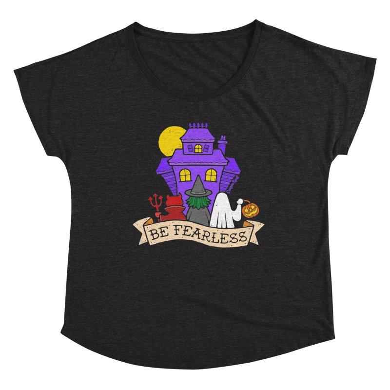 Be Fearless by Casper Spell Women's Scoop Neck by Casper Spell's Shop