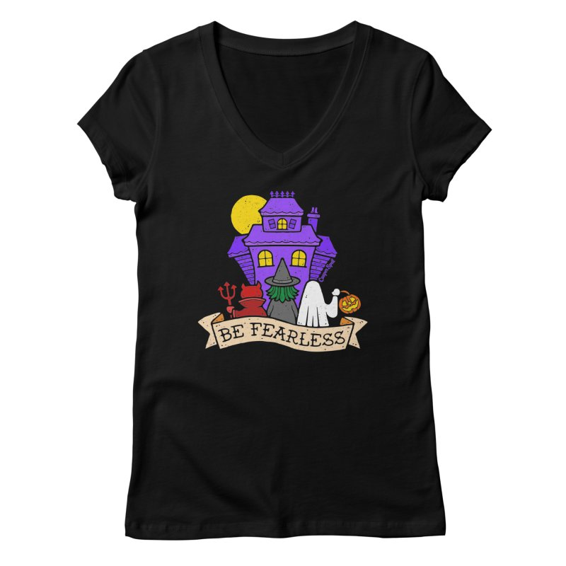 Be Fearless by Casper Spell Women's V-Neck by Casper Spell's Shop