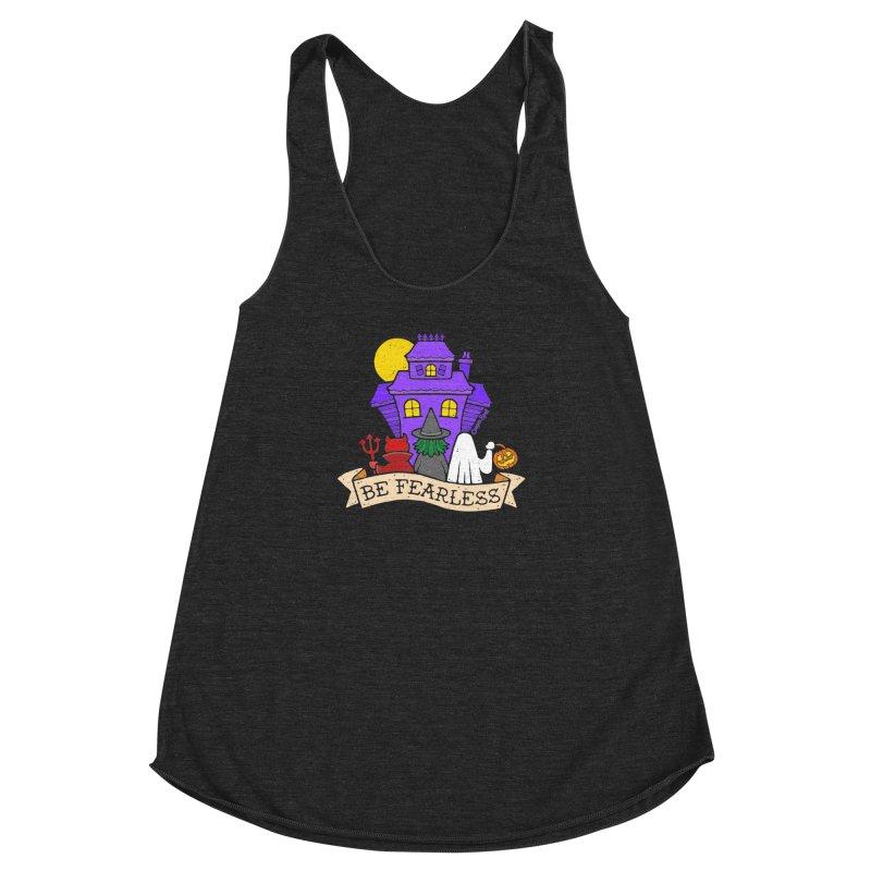 Be Fearless by Casper Spell Women's Racerback Triblend Tank by Casper Spell's Shop