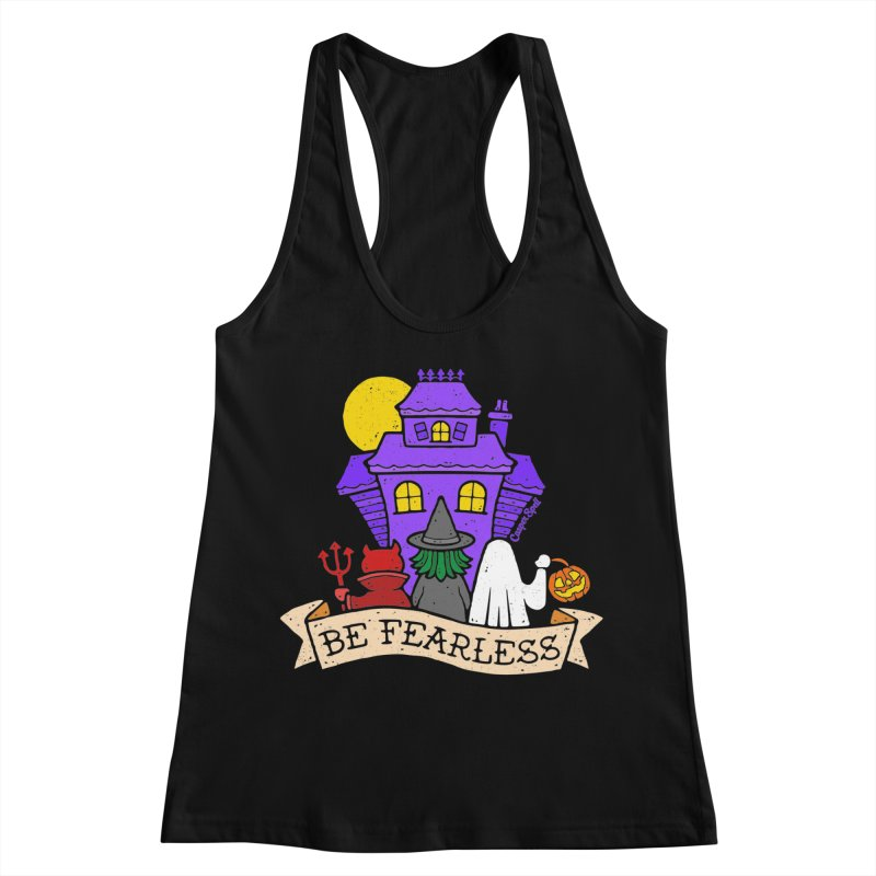 Be Fearless by Casper Spell Women's Racerback Tank by Casper Spell's Shop