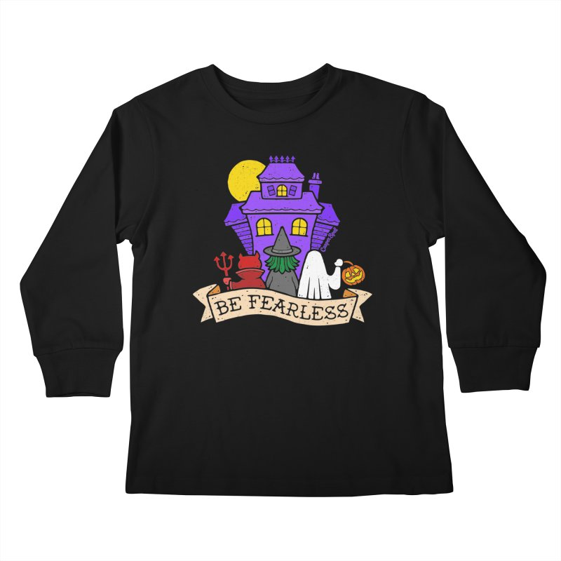 Be Fearless by Casper Spell Kids Longsleeve T-Shirt by Casper Spell's Shop