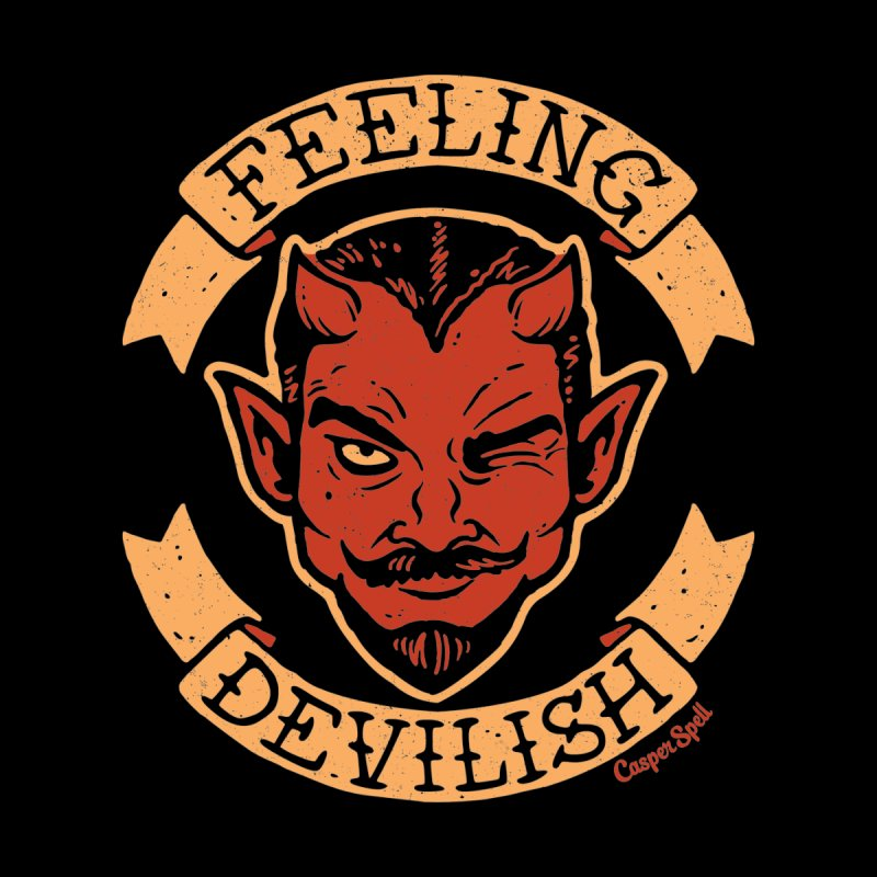 Feeling Devilish Home Throw Pillow by Casper Spell's Shop