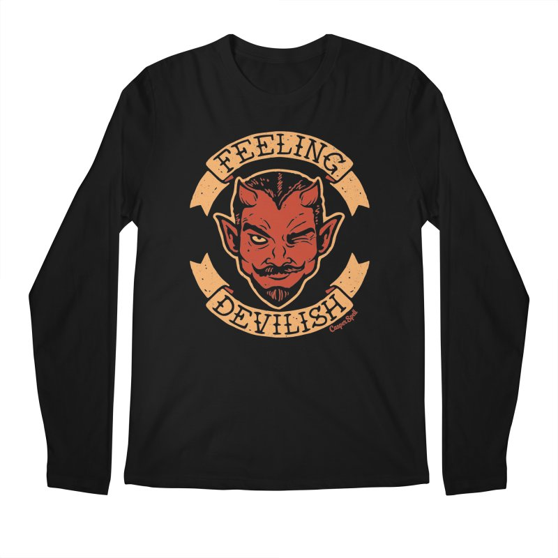 Feeling Devilish Men's Regular Longsleeve T-Shirt by Casper Spell's Shop