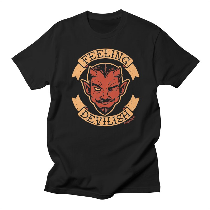 Feeling Devilish Women's Regular Unisex T-Shirt by Casper Spell's Shop