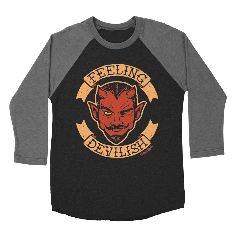 Feeling Devilish Women's Baseball Triblend Longsleeve T-Shirt by Casper Spell's Shop