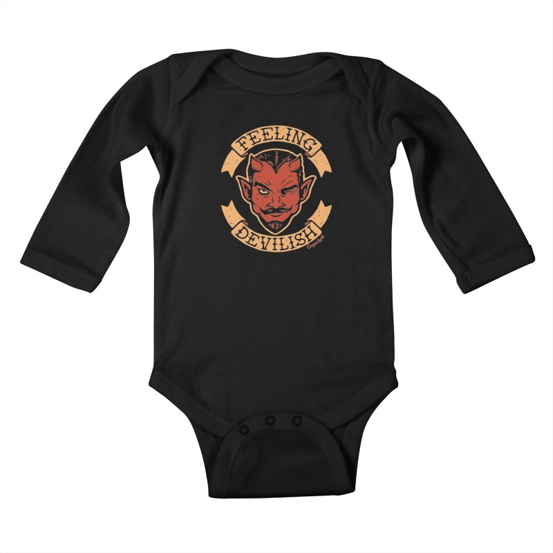 Feeling Devilish Kids Baby Longsleeve Bodysuit by Casper Spell's Shop
