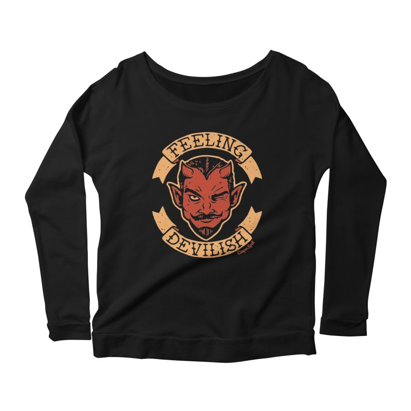Feeling Devilish Women's Longsleeve Scoopneck  by Casper Spell's Shop