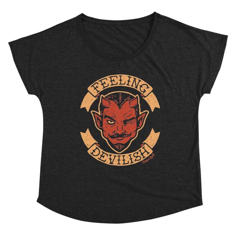 Feeling Devilish Women's Scoop Neck by Casper Spell's Shop