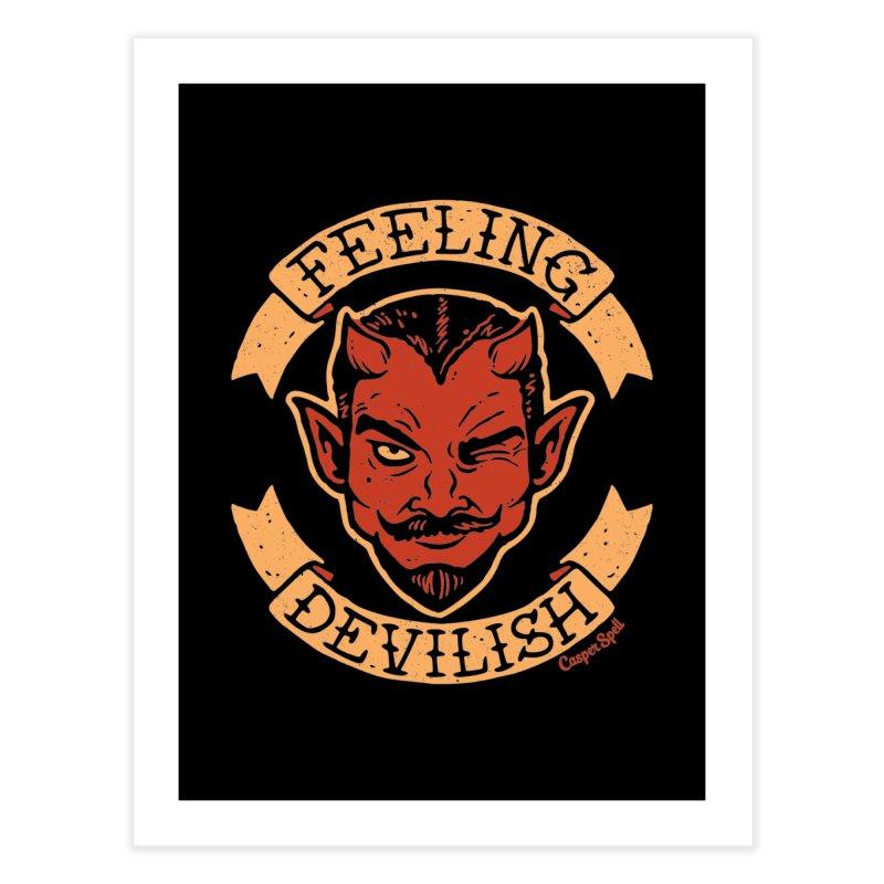 Feeling Devilish Home Fine Art Print by Casper Spell's Shop