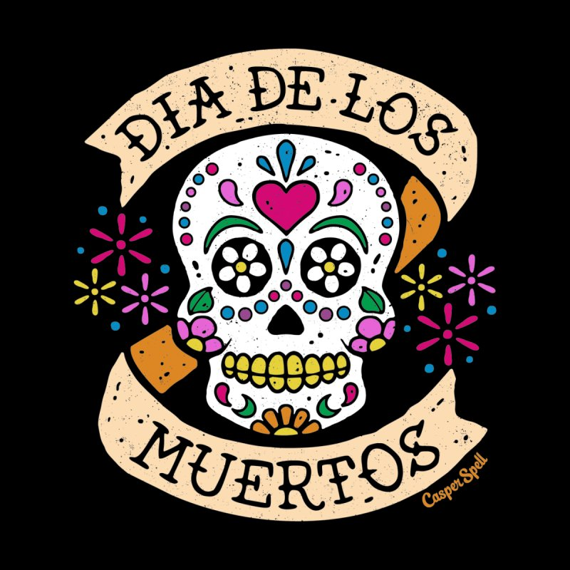 Day of the Dead (Dia de los Muertos) Women's Longsleeve T-Shirt by Casper Spell's Shop