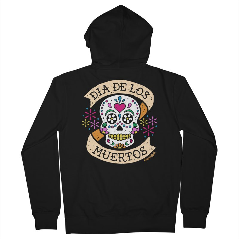 Day of the Dead (Dia de los Muertos) Women's French Terry Zip-Up Hoody by Casper Spell's Shop