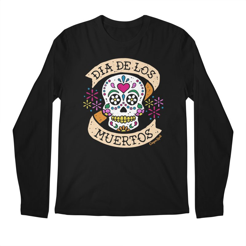 Day of the Dead (Dia de los Muertos) Men's Regular Longsleeve T-Shirt by Casper Spell's Shop